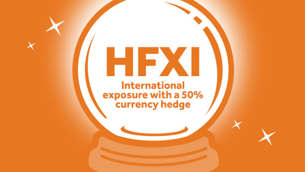HFXI International exposure with a 50 percent currency hedge
