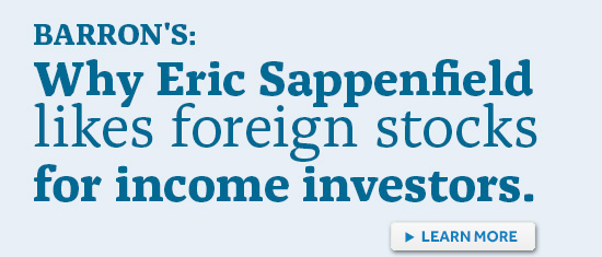 Why Eric Sappenfield likes foreign stocks for income investors