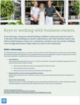 PDF thumbnail: Keys to working with business owners