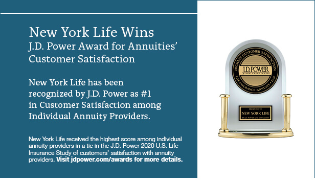 New York Life winds the J.D.Power Award for Annuities' Customer Satisfacation